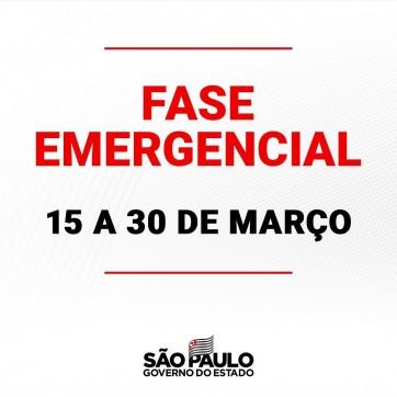 Estamos vivendo o pior momento da pandemia até aqui e duras medidas de restrição precisam ser tomadas. Por isso, a partir do dia 15 de março o estado de São Paulo entra na Fase Emergencial do Plano SP