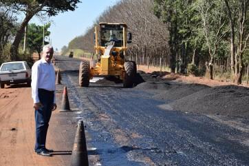 DER volta para continuar obra de recape e pavimentação da Estrada da Vitória
