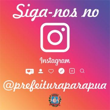 Siga nosso perfil no Instagram e fique por dentro das ações da Prefeitura!