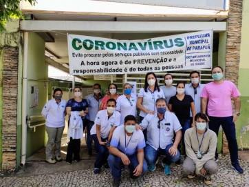 Equipe de saúde realiza entrega de mascaras