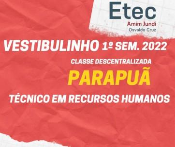 Vestibulinho da ETEC Amim Jundi - CD PARAPUÃ