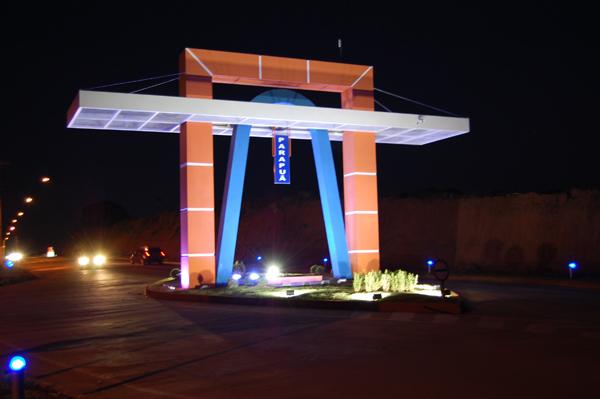 Imagem da entrada da cidade de Parapuã